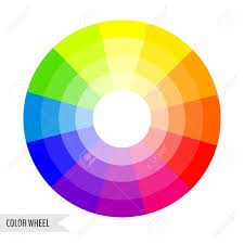 Colour Wheel Chart Colors Bright Color Wheel Chart Isolated On White Background Vector