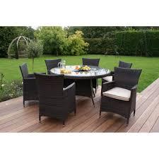 miami 6 seat round dining set