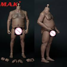<b>1/6 scale male man</b> plump fat strong body with chest hair for 12 ...