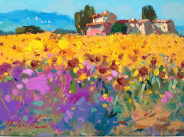 bloom paintings painting tuscan countryside by agostino veroni