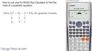 how to use your fx 991es plus calculator to find the roots of a quadratic equation