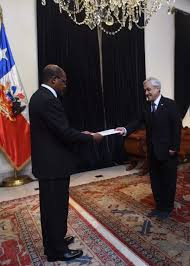 his excellency george talbot accredited ambador to chile