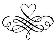Scroll Heart Decorative Heart Scrolls Google Search Decorative Lines