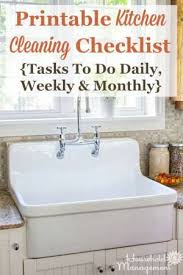 Daily Weekly Monthly Chores Kitchen Cleaning Checklist Daily Weekly And Monthly Chores
