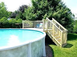 Above Ground Swimming Pool Deck Designs New Design Ideas