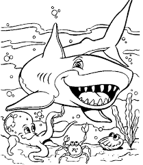 Coloring Page Water Animals Coloring Pages Free Animal Ocean