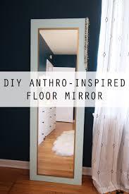 Diy Mirror Projects Design Evolving Anthro Hack Diy Floor Mirror Designevolvingcom