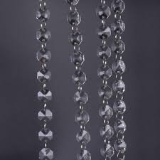 1m clear glass crystal bead garland chandelier hanging diy wedding light lam rs