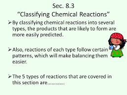 7 sec 8 3 classifying chemical reactions