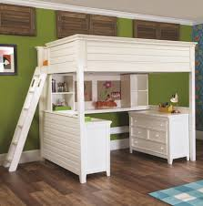 White Girls Loft Bed With Desk And Two Dressers of 15 Captivating ...