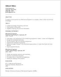 Mechanical Engineer Resume Custom Example Mechanical Engineering Resume Templates Examples Technician