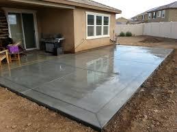 patio slab sets: broom finish concrete patio slab with quot border bands