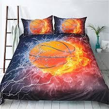 generic 3d basketball duvet quilt doona cover sets sport soft queen king bed linen twin