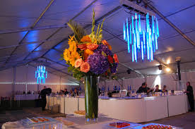 led chandeliers light up tent for tiff s closing night party