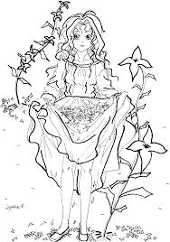 Dessin De Coloriage Fille Manga Imprimer Cp11910