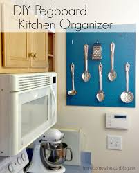 Pegboard Kitchen Diy Pegboard Kitchen Organizer Here Comes The Sun