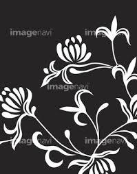 花柄植物柄 飾り罫の画像素材 バックグラウンドイラストcgの