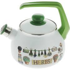 <b>Чайник эмалированный</b> Metrot Травы <b>2.5</b> л (1001661587) купить в ...
