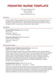 Resume Pediatric Nurse 30 Nursing Resume Examples Samples Written By Rn