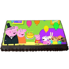 Send Peppa Pig Birthday Photo Cake Gifts To Mumbai