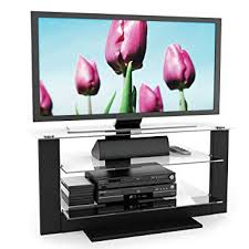 sonax tv stand. Wonderful Stand Sonax AT1420 Atlantic 40Inch Midnight Black TV Stand With Glass Shelves Inside Tv 3