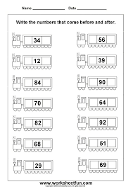 Before and After Math Worksheets for Kindergarten – Before and after ...
