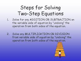 solving twostep equations what is a