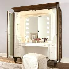 lighted makeup vanity sets bedroom vanity sets also with a dresser white pertaining to for bedrooms ideas 2 lighted makeup vanity table