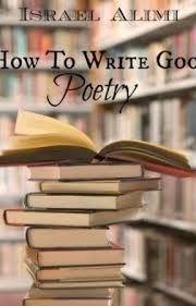 How To Write Good Poetry Introduction Wattpad