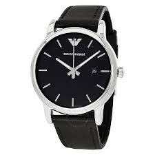 emporio armani classic black dial black leather strap men s watch emporio armani classic black dial black leather strap men s watch ar1692