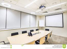bright office. Modern Training Room Design: Stock Photo Small Meeting Tv Projector Bright Office F
