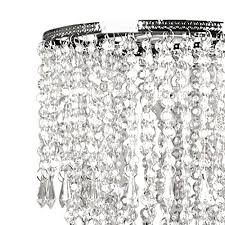 tadpoles faux crystal triple layer dangling pendant light shade chandelier style