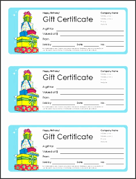 7 Free Birthday Gift Certificate Template Sampletemplatess