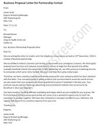 sample business proposal business proposal letter for partnership sample business