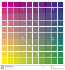 Color Chart Magenta Yellow Cyan Print Production Color Guide