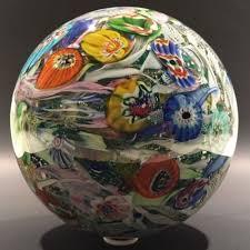 huge 7 murano art glass paperweight