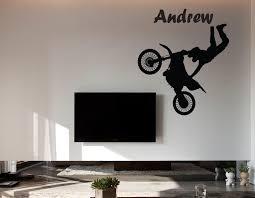 Motocross Bedroom Decor Similiar Dirt Wall Office Keywords