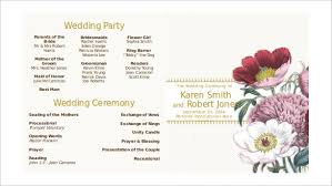 modern double sided ceremony wedding programs down