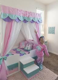 Mermaid Bed, Mermaid Canopy Bed, Girls Bed, Toddler, Twin or Full ...