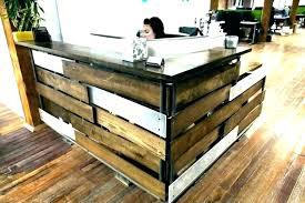 reception desk reclaimed wood barn easy diy wooden legs recep