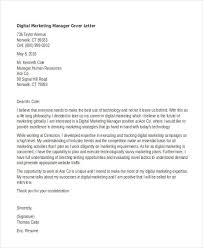 Cover Letters Templates Free Digital Cover Letter Examples 11 Marketing Cover Letter Templates