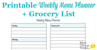 Menu Plan Template Filled Out Meal Planner Printable Example Bootscootinmusic Com