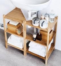 bathroom storage organization sink shelf