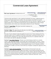 Free Commercial Lease Abstract Template Contract Standard