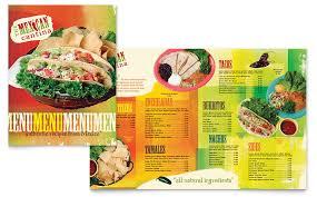 Microsoft Word Restaurant Menu Template Amazing Mexican Restaurant Menu Template Word Publisher