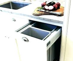 decoration garbage can inside kitchen cabinet door trash hardware drawer recycling cabinets best pull out
