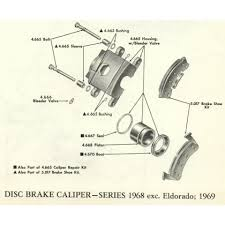exploded views master parts book shop parts cadillac parts online 1968 exc eldorado 1969 cadillac disc brake caliper