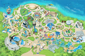 theme park  attractions map  seaworld san diego