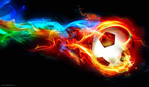 soccer ball with fire wallpapers
