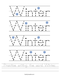 Winter Worksheets - Page 3 - Twisty Noodle